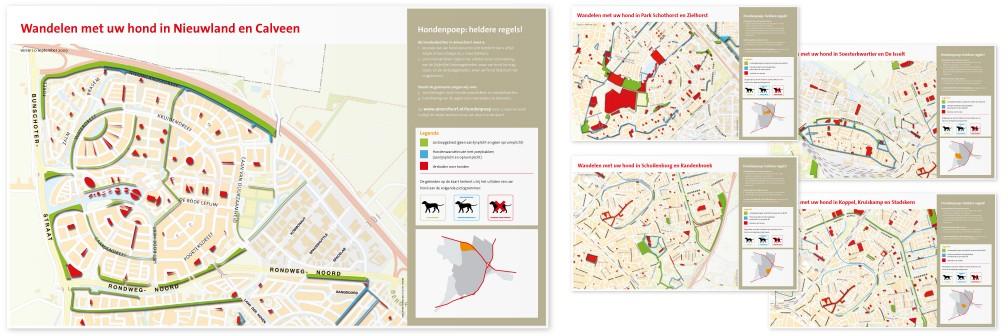 Publiekscampagne Gemeente Amersfoort Hondenwandelkaarten