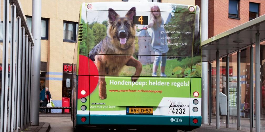 Publiekscampagne Gemeente Amersfoort Busreclame