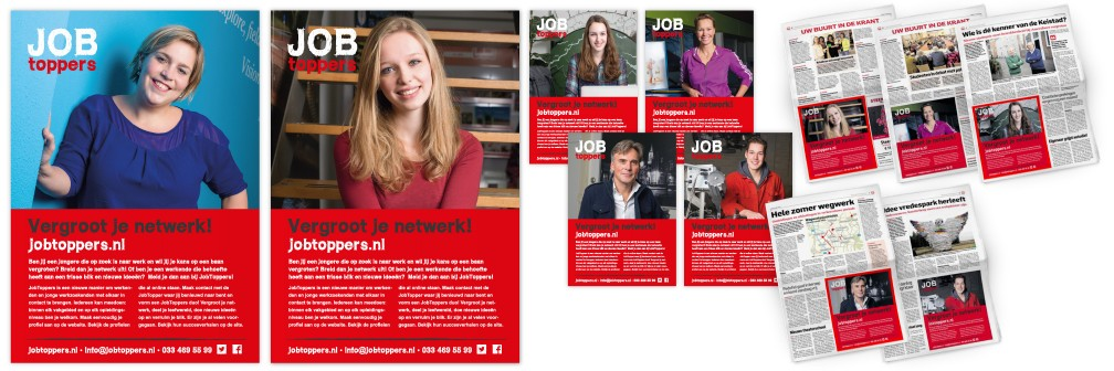 Communicatiecampagne JobToppers Advertenties