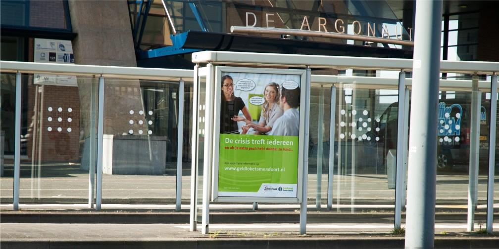 Campagne Geldloket Gemeente Amersfoort Station Abri