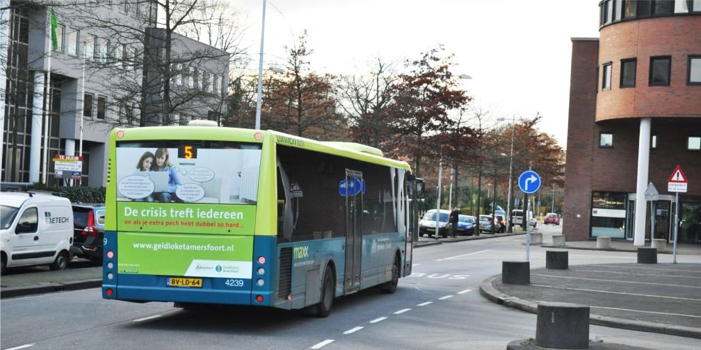 Campagne Geldloket Gemeente Amersfoort Busreclame