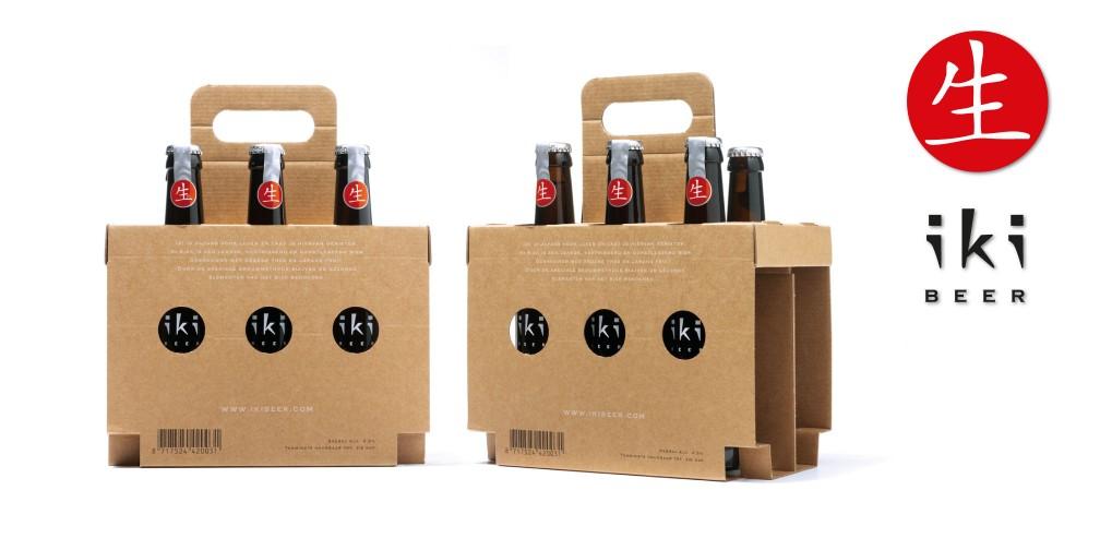 Ontwerp Sixpack bierverpakking iKi Beer Sixpacks