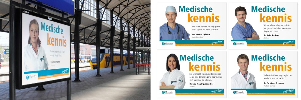 Publiekscampagne Meander Ziekenhuis Amersfoort Stationsspreads