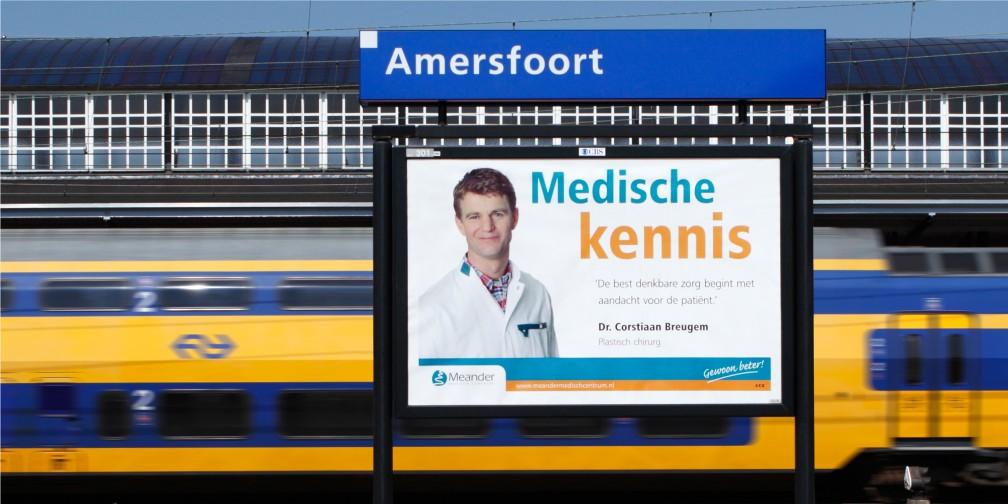 Publiekscampagne Meander MC Amersfoort Stationssprea
