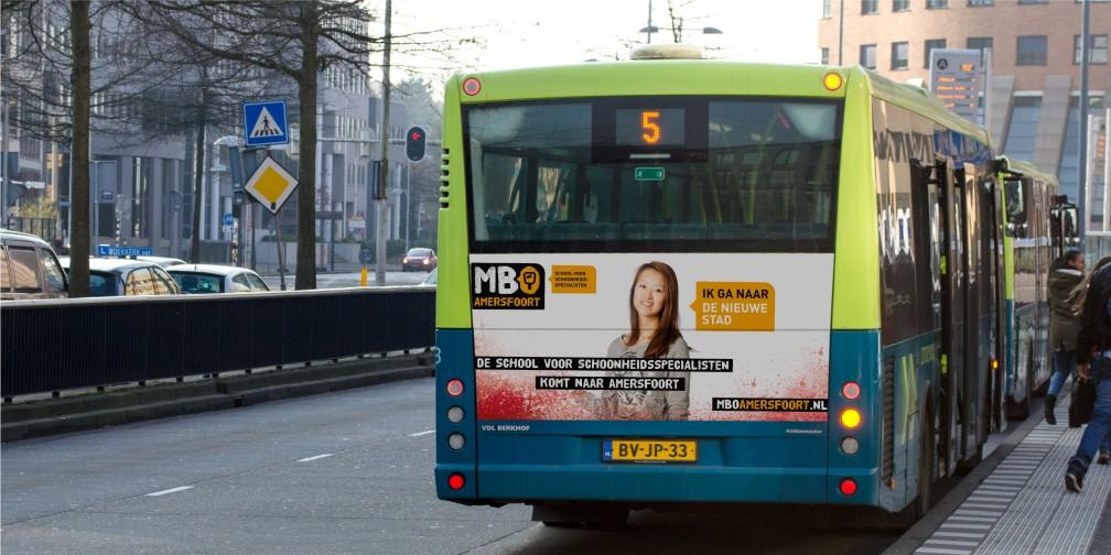 Verhuiscampagne MBO Amersfoort Busreclame