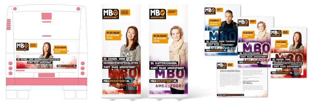 Verhuiscampagne MBO Amersfoort Nieuwe Stad Rollup Busreclame banner