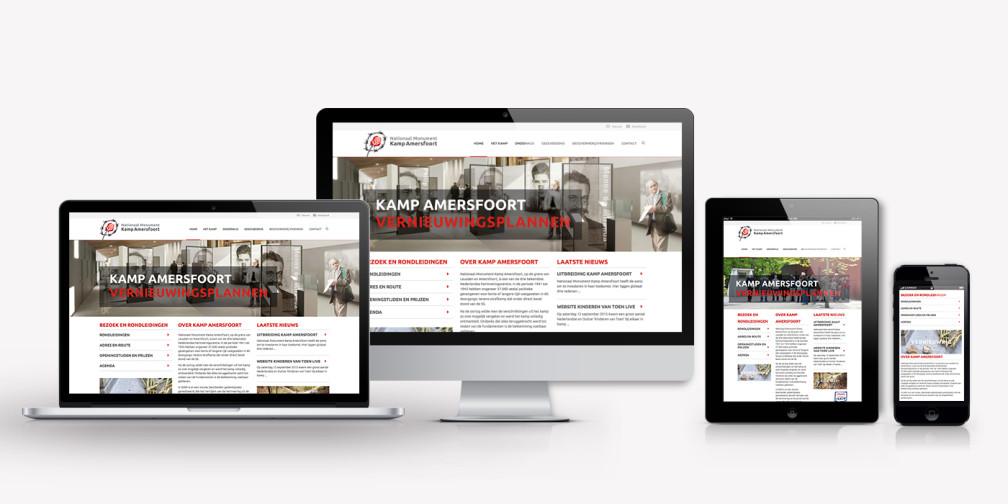 Huisstijl en website kamp amersfoort