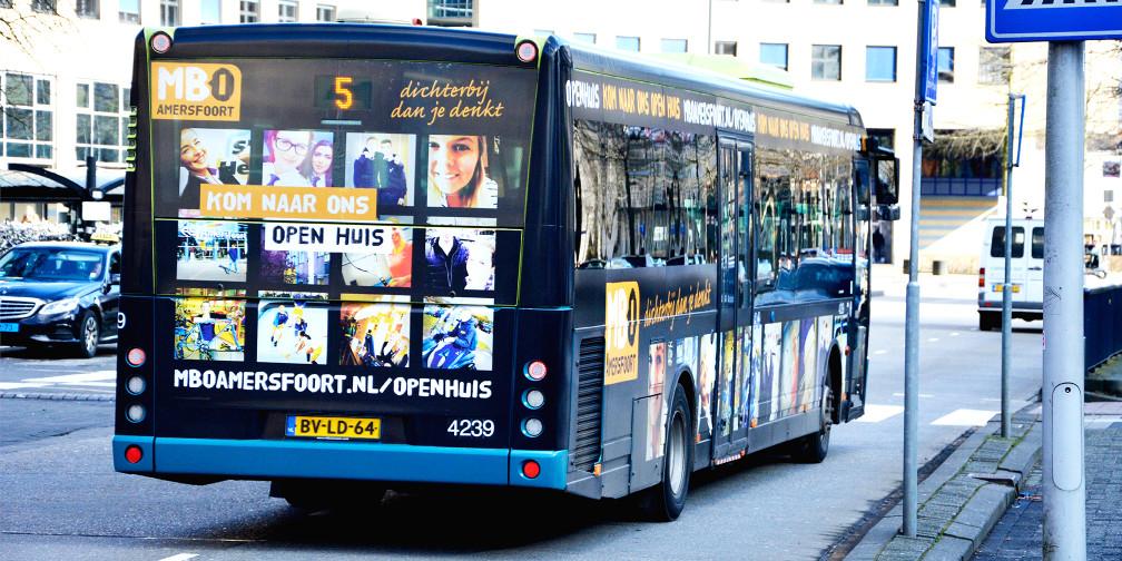 Bus MBO Amersfoort achterkant