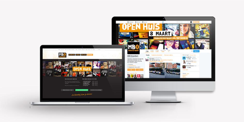 MBO Amersfoort Open Huis webpagina