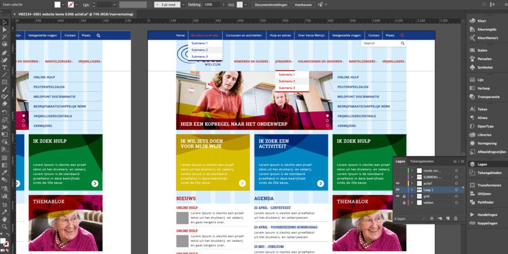 Versa welzijn website navigatie groot concreet-geeft-vorm