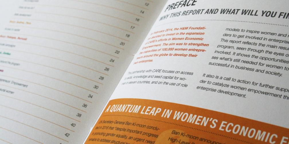 Vormgeving jaarverslag Care Nederland
